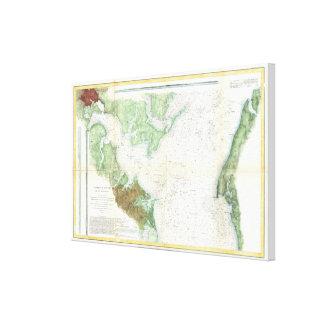Patapsco River and Chesapeake Bay Map (1857) Canvas Print