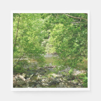 Patapsco River View Maryland Nature Photography Napkin