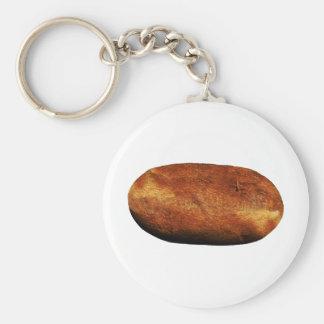 Patate chaude porte-clé rond