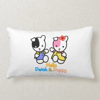 Patch and Poppy pillow