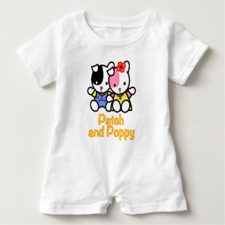 Patch and Poppy the puppies baby romper. Baby Romper