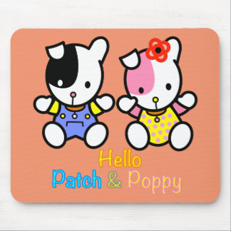 'PATCH' and 'POPPY' the puppies mousepad. Mouse Pad