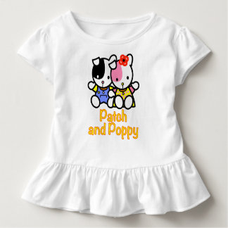 Patch and Poppy toddler ruffle tee. Toddler T-shirt
