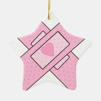 patch ceramic ornament
