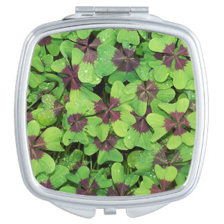 Patch of Four Leaf Clover, (Sorrel, Iron Cross) Compact Mirrors