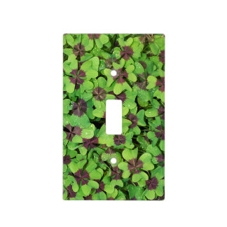 Patch of Four Leaf Clover, Sorrel, with Dew Light Switch Cover