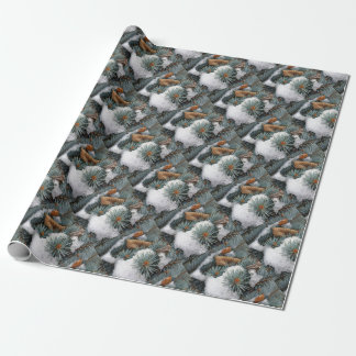 patch of snow wrapping paper
