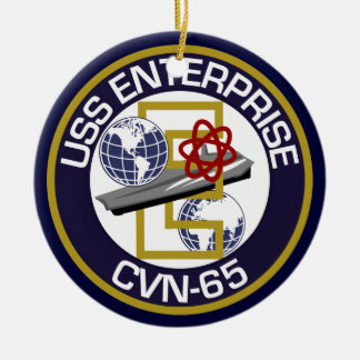 Patch Only - USS Enterprise Round Ceramic Ornament