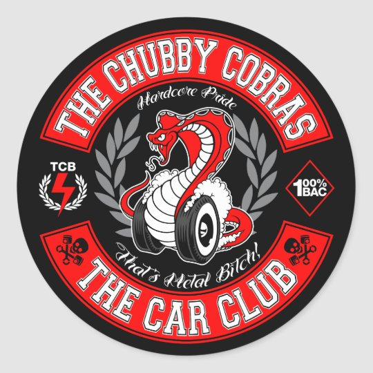 "Patch Red 1.5"" Classic Round Sticker"