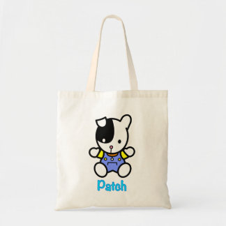 'PATCH' the puppy little tote bag.