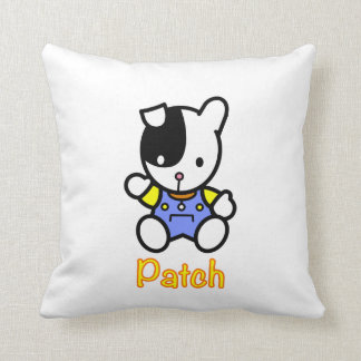 Patch the Puppy Throw Pillow