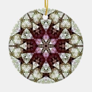 Patch work Kaleidoscope Ceramic Ornament
