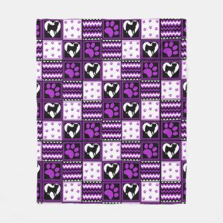 Patch Work Pug's Blanket Purple