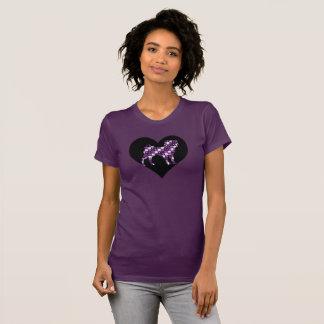 Patch Work Pug's Tshirt Purple