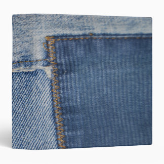 Patched Denim Binder