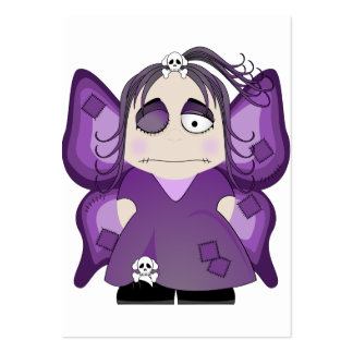 Patched Gothic Fairy In Purple Business Card