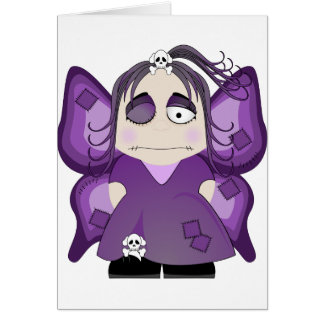 Patched Gothic Fairy In Purple Greeting Card