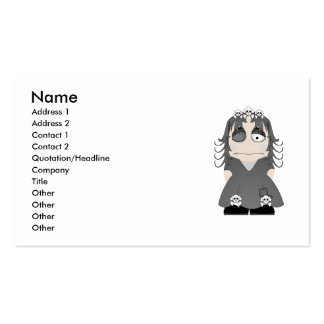 Patched Gothic Princess Business Card
