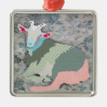 Patches Goat Ornament