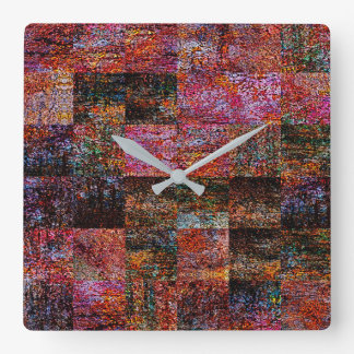 Patchwork Acrylic Wall Clock