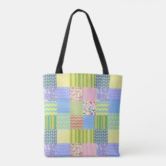 Patchwork All-Over-Print Tote Bag
