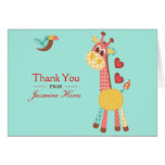 Patchwork Baby Shower Thank You Card