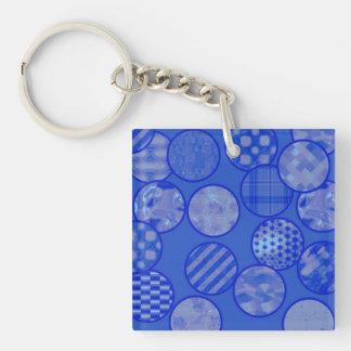 patchwork balls,blue keychain