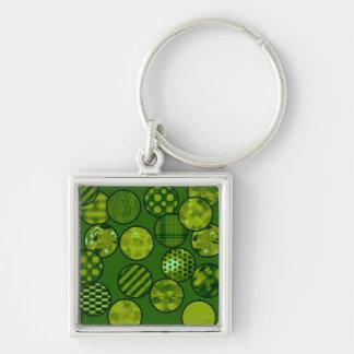 Patchwork Balls,green Keychains