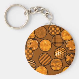 Patchwork Balls,orange Key Chains