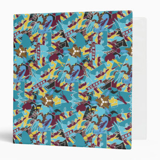 Patchwork bright pattern. Urban bright style 3 Ring Binders