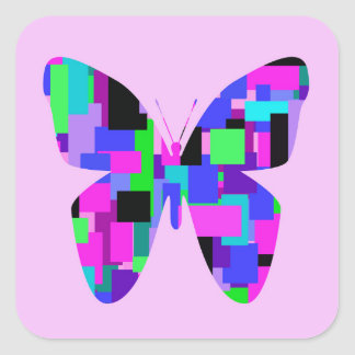 Patchwork Butterfly Sticker