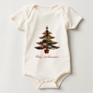 Patchwork Christmas Baby Bodysuit