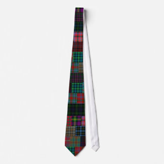 Patchwork Clan Gordon Tartan Necktie