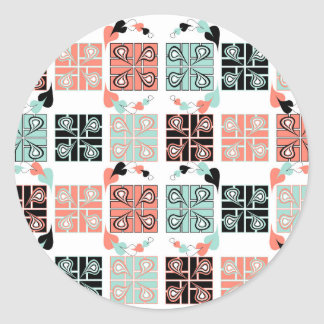 Patchwork Classic Round Sticker