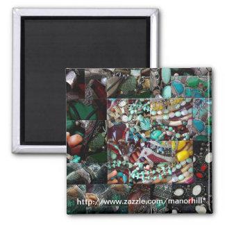 Patchwork de chaîne de cadeau de perles magnet carré