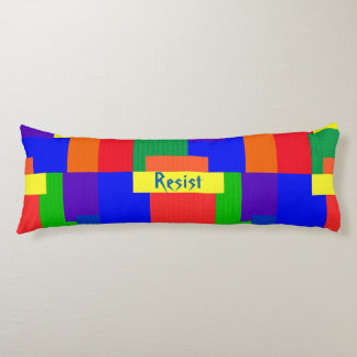Patchwork Design Rainbow Resist Body Pillow