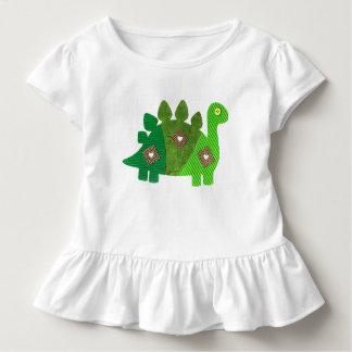 'Patchwork Dinosaur' Ruffle T-Shirt