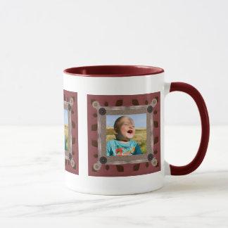Patchwork Enthusiast Photo Frame Mug