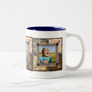 Patchwork Enthusiast Photo Frame Two-Tone Coffee Mug