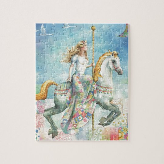 Patchwork, Fantasy Carousel by Scot Howden Jigsaw Puzzle
