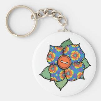Patchwork Flower - 002 Basic Round Button Keychain