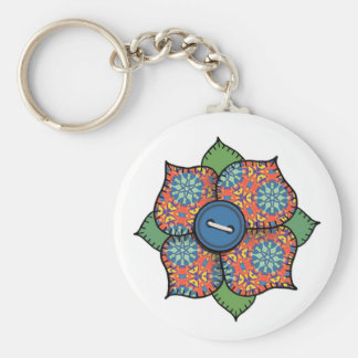 Patchwork Flower - 003 Key Chain