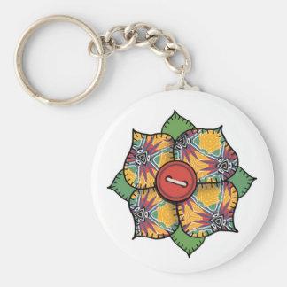 Patchwork Flower - 008 Basic Round Button Keychain