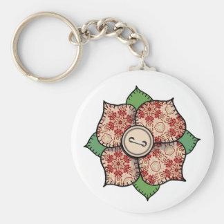 Patchwork Flower - 009 Keychain