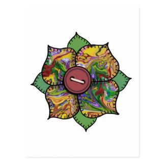 Patchwork Flower - 012 Postcard