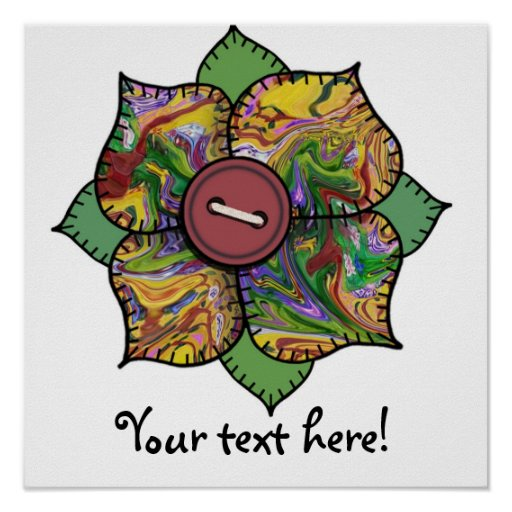Patchwork Flower - 012 Posters