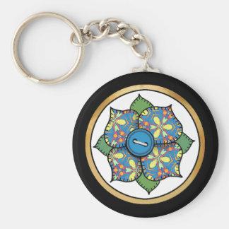 Patchwork Flower - 01 Keychain