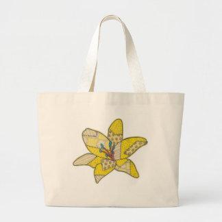 Patchwork Flower Large Tote Bag