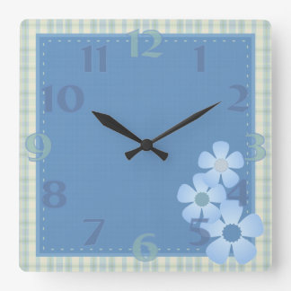 Patchwork Flower Wall Clock