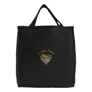 Patchwork Heart Crafts Bag